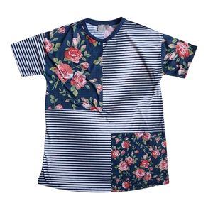 ASOS Maternity T-Shirt in Stripe and Floral Mix